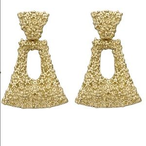 Anthropologie Gold Statement Earrings